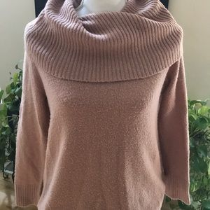 Cable and Guage cow neck sweater